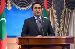 President Abdulla Yameen addresses the nation on the occasion of the 52nd Independence Day