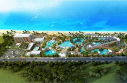 A digital drawing of the water theme park to be developed in Hulhumale