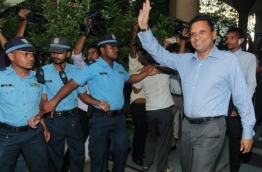 The former Defence Minister Mohamed Nazim: he is convicted of weapons possession and is serving 11 years in jail