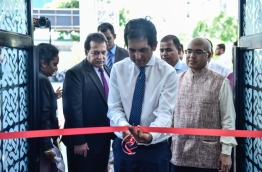Economic Minister Mohamed Saeed opens the Food and Hospitality Asia Maldives (FHAM) 2017 fair at Dharubaaruge. PHOTO: HUSSAIN WAHEED/MIHAARU