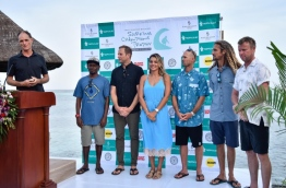 During the opening ceremony of the Surfing Champions Trophy 2017 hosted by Four Seasons Kuda Huraa. PHOTO: HUSSAIN WAHEED/MIHAARU