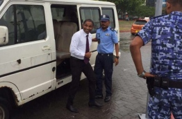 Villingili MP Saud Hussain after appeal hearing at the High Court. PHOTO/SOCIAL MEDIA