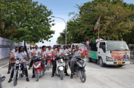 The PPM rally held in H.Dh. Kulhudhuffushi PHOTO/TWITTER