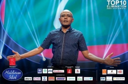 Major Ahmed Athif, pictured during his appearance on Maldivian Idol Season 2. PHOTO/PSM