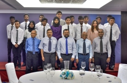 Students taking part in Universal Foundation and Villa College's hospitality short-course PHOTO / MIHAARU