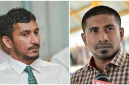 Composite image of Inguraidhoo MP Ibrahim Falaah (L) and Galolhu South MP Ahmed Mahloof.