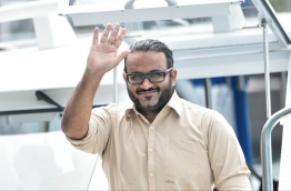 Former Vice President Ahmed Adheeb arriving in court on Wednesday. PHOTO / MIHAARU
