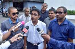 The four members who lost their seats following Supreme Court's ruling, speaking to the press. PHOTO / MIHAARU