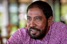 Jumhoory Party leader Qasim Ibrahim speaks to Mihaaru. PHOTO: NISHAN ALI/MIHAARU