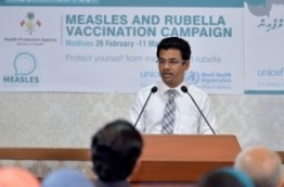 During the national campaign against measles and rubella in February and March 2017.