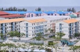 Overhead shot of government flats in Hulhumale. PHOTO/MIHAARU