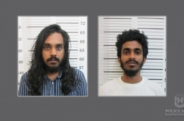 Mohamed Saaz (R),, 21, of Thaa atoll Kinbidhoo island, and Afrah Abdul Razzaq, 21, of capital Male: the two are wanted in connection to the murder of Mohamed Anas in July 2017. PHOTO/POLICE