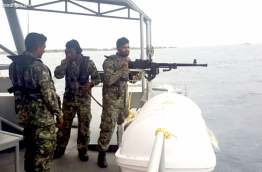 MNDF soldiers pictured during a navy training session. PHOTO/MNDF