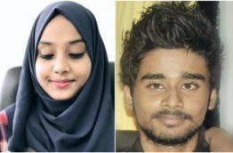 Fathmath Sama, 18 (L) and Ahmed Hamin, 21 (R) - the two individuals who passed away after experiencing chest pains whilst under the influence of illicit substances --