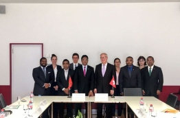 PPM's parliamentary group pose for picture with Swiss Ambassador to Asia Pacific Region after a meeting on the political landscape of the Maldives.