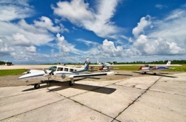 Aircraft used for training at the Asian Academy of Aeronautics (AAA) pictured in Gan International Airport. PHOTO/AAA