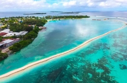 Aerial view of K. Himmafushi lagoon. PHOTO/HOUSING MINISTRY