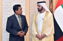 President Yameen during his trip to the UAE in October. PHOTO / PRESIDENT'S OFFICE