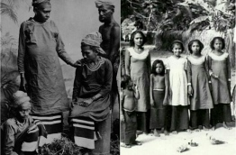 CW Rosset's photos from 1885 and Gan Villagers 73 years later in 1958
