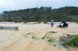 At least 19 people have died and a dozen are missing after Typhoon Damrey barrelled into Vietnam, authorities said on November 5, just days before the country welcomes world leaders to the APEC summit. / AFP PHOTO / Vietnam News Agency / STR