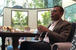 Former president Mohamed Nasheed gives interview to Mihaaru in London. PHOTO/MIHAARU