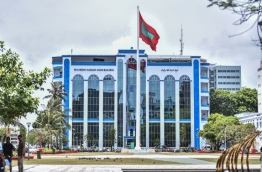 The police headquarters, Shaheedh Hussain Adam Building in the capital Male. PHOTO / MIHAARU
