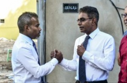 Lawyer Ibrahim Riffath (L) pictured with MP Mohamed Waheed. PHOTO: HUSSAIN WAHEED/MIHAARU