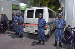 Police officers stand guard during an operation. FILE PHOTO/MIHAARU