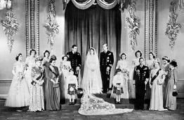 Queen Elizabeth II and Prince Philip will celebrate their platinum wedding anniversary on November 20, marking 70 years since they married in the splendour of Westminster Abbey. / AFP PHOTO / STR