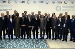 Representatives of the OIC member states at the first OIC water council meeting. PHOTO/YENI SAFAK