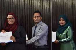 Composite image of the newly appointed three Goodwill Ambassadors for the disabled (L-R): Mariyam Fazunee, Ahmed Ansam and Zihunath Hassan. PHOTO: HUSSAIN WAHEED/MIHAARU