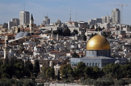 Palestinian leaders were seeking to rally diplomatic support to persuade US President Donald Trump not to recognise Jerusalem as Israel's capital after suggestions that he planned to do so. East Jerusalem was under Jordanian control from Israel's creation in 1948 until Israeli forces captured it during the 1967 Six-Day War. Israel later annexed it in a move not recognised by the international community. / AFP PHOTO / THOMAS COEX
