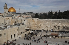 """The EU's diplomatic chief Federica Mogherini said that the status of Jerusalem must be resolved """"through negotiations"""", as US President Donald Trump mulls recognising the city as the capital of Israel. / AFP PHOTO / THOMAS COEX"""