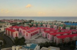 Aerial view of flat complexes in Hulhumale. PHOTO: MOHAMED YAMEEN/MIIHAARU