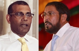 Composite image of former president Mohamed Nasheed (L) and JP leader Qasim Ibrahim