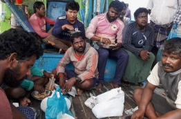 Some of the fishermen who were rescued after Cyclone Ockhi in December 2017.