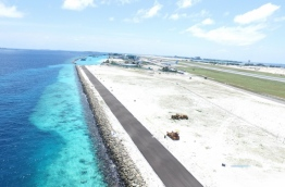 The road on airport island Hulhule's southwest coast. PHOTO/MACL