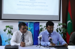 MIFCO and the environment ministry sign agreement to ban the use of HCFCs in refrigerants in the fisheries industry. PHOTO/ENVIRONMENT MINISTRY
