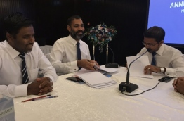 MPL's chairman, CEO, and the now dismissed Ali Adam pictured during the company's annual general meeting in 2017. PHOTO/MPL