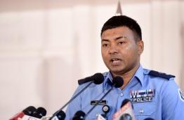 Chief superintendent of Police Hamdhoon Rasheed. PHOTO/MIHAARU