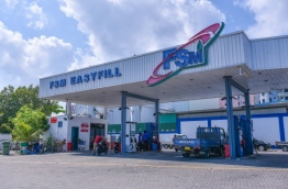 An FSM fuel shed in capital Male. PHOTO: HUSSAIN WAHEED/MIHAARU