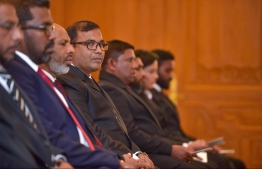 Judges taking part in a ceremony held in Supreme Court. PHOTO: NISHAN ALI / MIHAARU