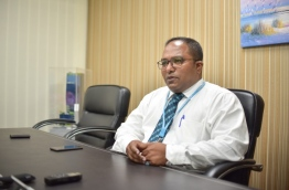 Dr Mohamed Shifan, the first local surgical oncologist of the Maldives, gives an interview to Mihaaru. PHOTO: HUSSAIN WAHEED/MIHAARU