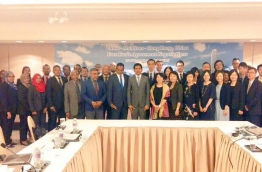 Delegations of Maldives, China and Hong Kong pose for picture at the FTA talks. FILE PHOTO/ECONOMIC MINISTRY
