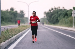 "A TFG Long Run participant in the ""Run in Laamu"" event. PHOTO/TFG"