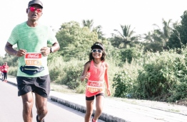 "Two participants of TFG Long Run in the ""Run in Laamu"" event. PHOTO/TFG"