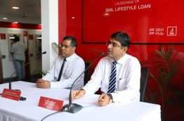 Senior officials of BML provide information on the bank's new Lifestyle Loan scheme. PHOTO/BML