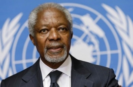 Kofi Annan, the former secretary general of the United Nations.