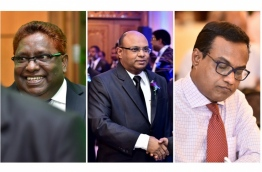 (L-R) - Supreme Court's judge Ali Hameed and Chief Justice Abdulla Saeed, and Judicial Administrator Hassan Saeed.