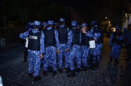 SO police officers in capital Male. PHOTO/MIHAARU